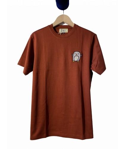 T-shirt rouille brodé main...