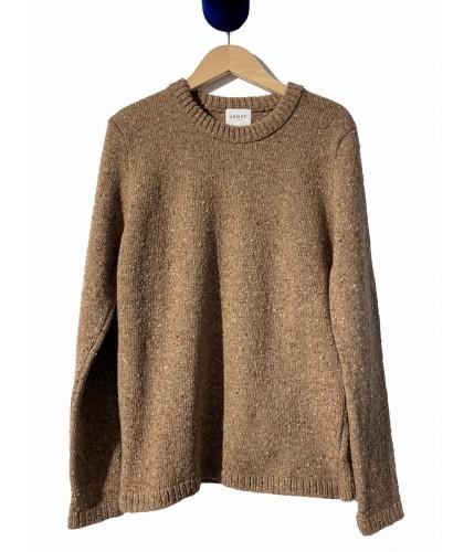 Pull en laine mérino marron...
