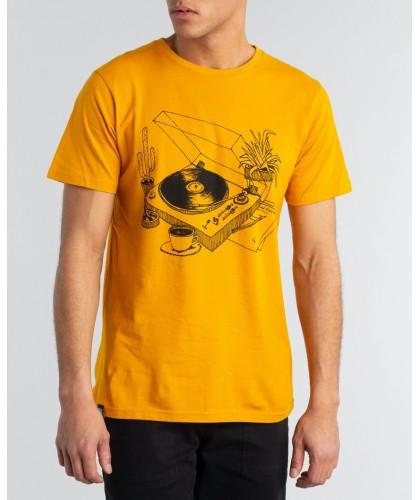 T-shirt bio jaune Coffee...