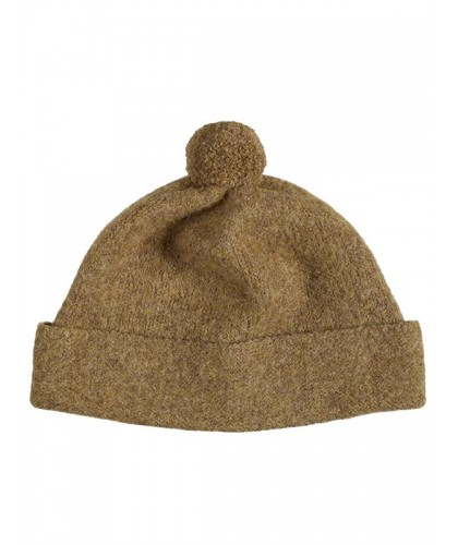 Bonnet à pompon en Shetland...