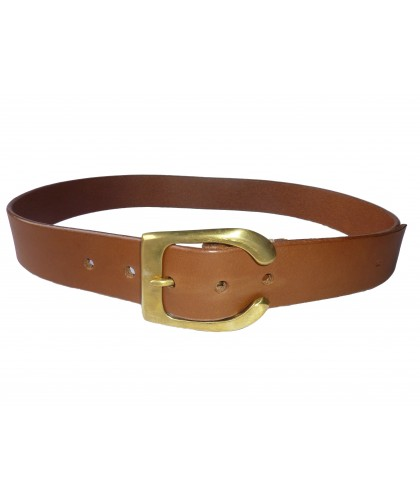 "Brown open buckle 1,5"" belt..."