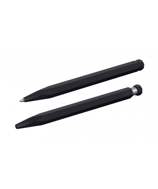 Ballpoint aluminium pen Black paint coating Krama Studio