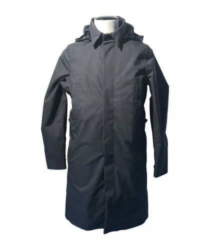 Single Breasted Mixed Charcoal Raincoat - Norwegian Rain