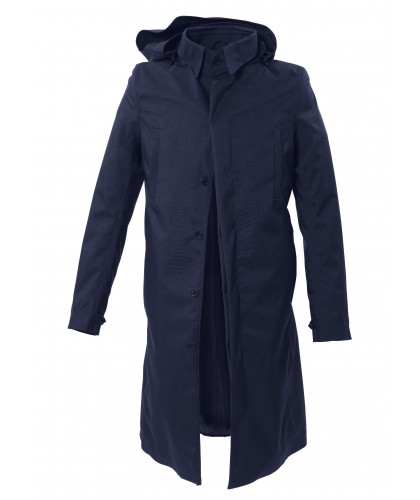 Single Breasted Mixed Dark Navy Raincoat NORWEGIAN RAIN