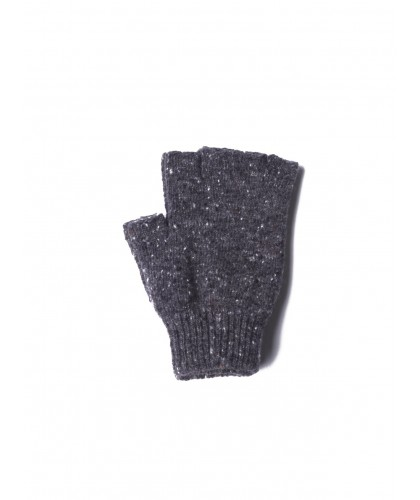 Mr No Finger Charcoal Fingerless Wool Gloves HOWLIN'