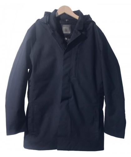 Navy Single Breasted Caban with lining  NORWEGIAN RAIN