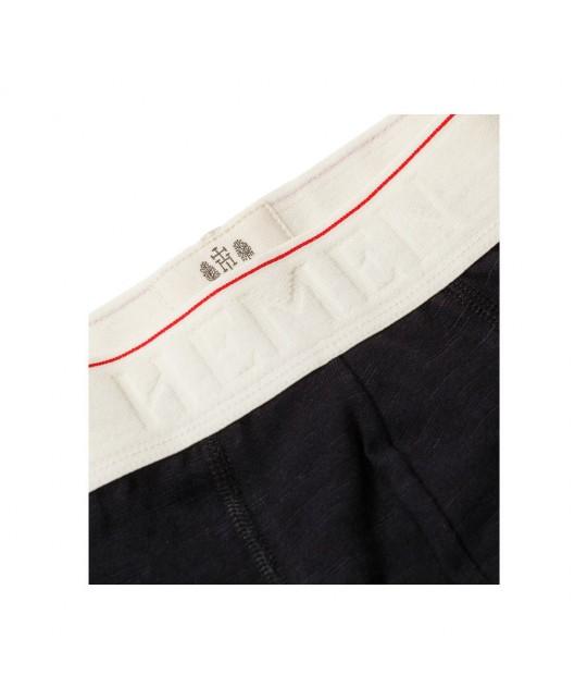 Marti Black Slubbed Cotton Boxer Shorts HEMEN