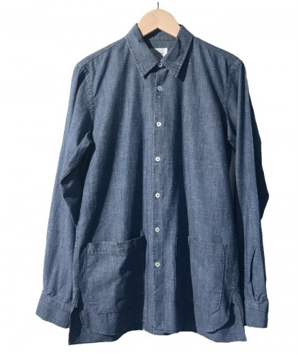 Ray Blue Bleach Denim Overshirt MEDWINDS