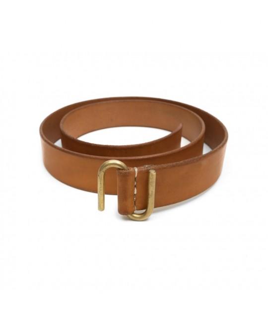 Tan 1,25'' S-buckle Leather Belt KIKANY