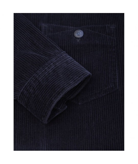 Organic Navy Cord Overshirt KNOWLEDGE COTTON APPAREL