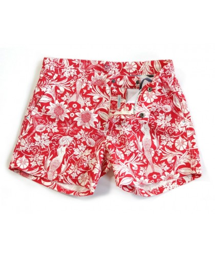 Recycled Buckler Morris Sea Vintage Red Swim Shorts RIZ BOARDSHORTS