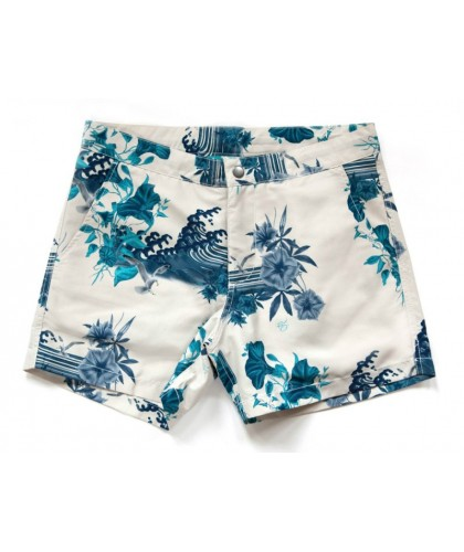 Recycled Buckler Japanese Gul Chalk Swim Shorts RIZ BOARDSHORTS