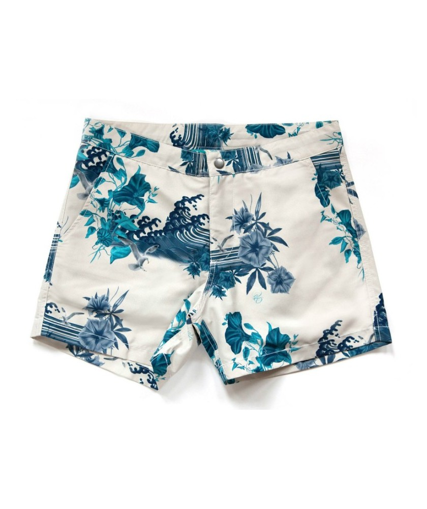 38209a8120 Recycled Buckler Japanese Gul Chalk Swim Shorts RIZ BOARDSHORTS