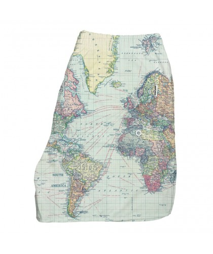 World Map Recycled Polyester Swim Shorts DEDICATED