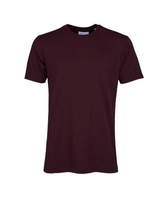 T-shirt Coton Bio Oxblood Red COLORFUL STANDARD