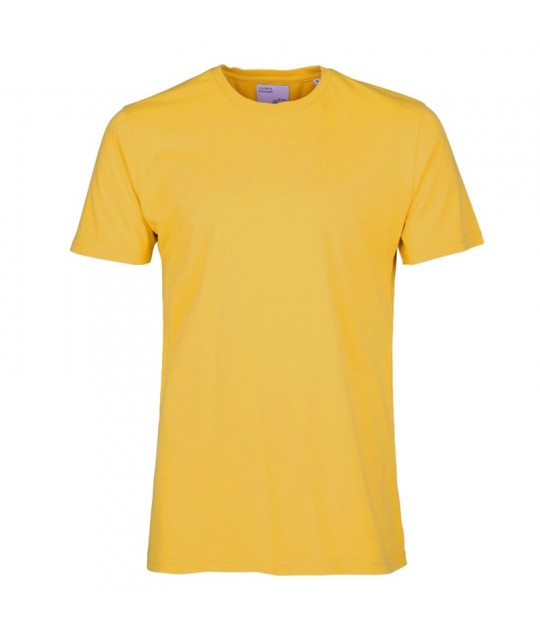 T-shirt Coton Bio Burned Yellow COLORFUL STANDARD