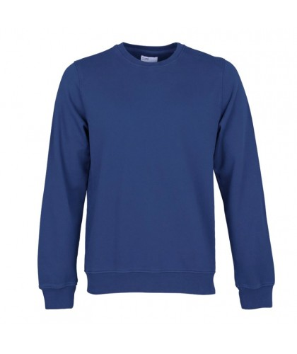Unisex Organic Royal Blue Crewneck Sweatshirt COLORFUL STANDARD