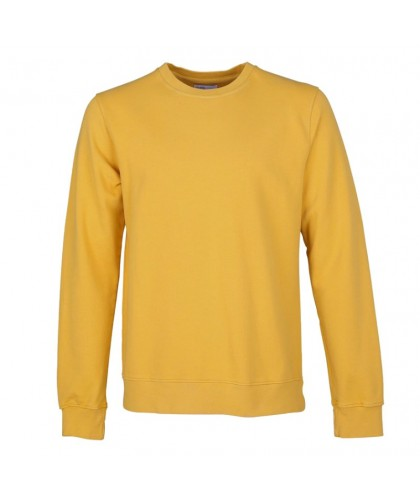 Unisex Organic Burned Yellow Crewneck Sweatshirt COLORFUL STANDARD