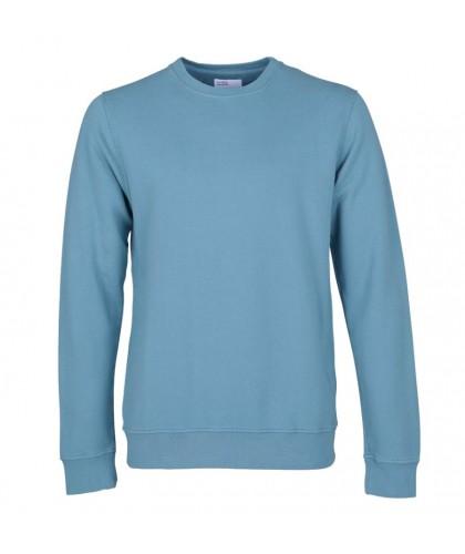 Unisex Organic Stone Blue Crewneck Sweatshirt COLORFUL STANDARD