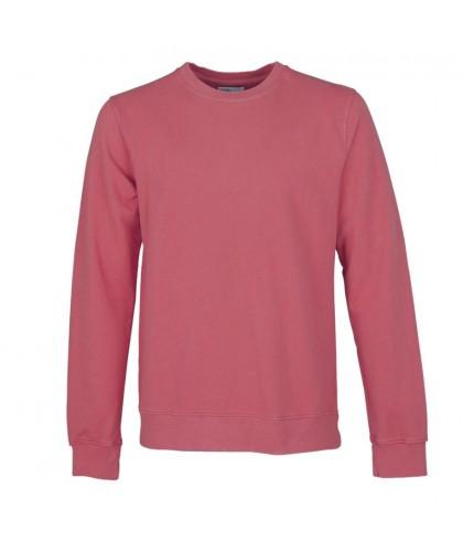 Unisex Organic Raspberry Pink Crewneck Sweatshirt COLORFUL STANDARD