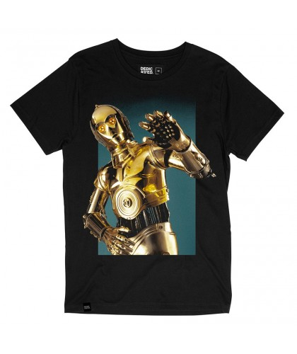 T-shirt bio noir C3PO DEDICATED x Star Wars