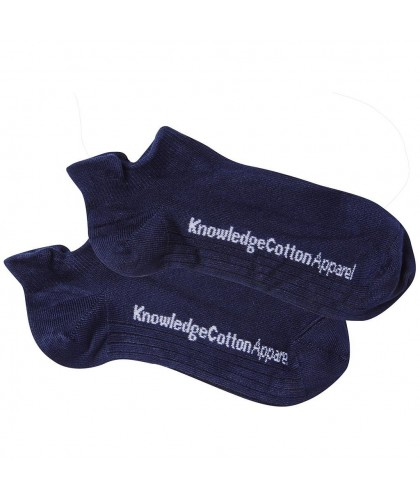 2 paires chaussettes basses bambou marine KNOWLEDGE COTTON APPAREL