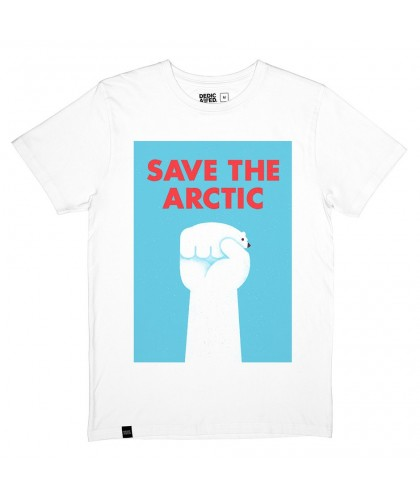 T-shirt blanc 'Save the Arctic' DEDICATED