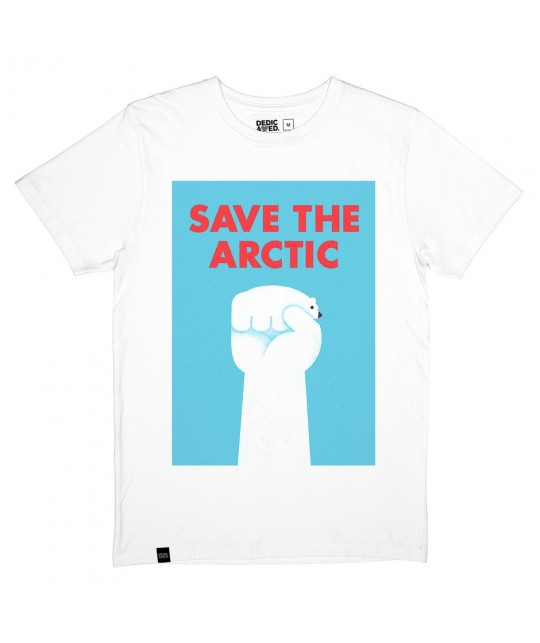 T-shirt blanc 'Save the Arctic' DEDICATED