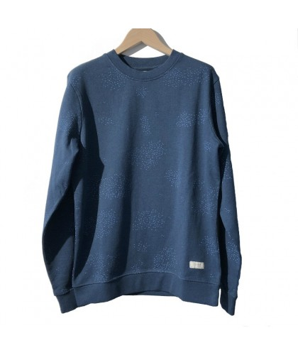 Sweatshirt bleu bio équitable Migration THINKING MU