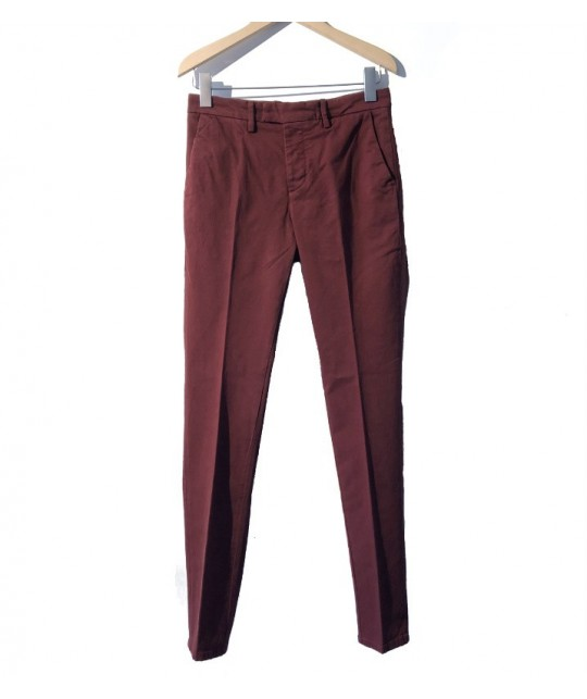 Chino bordeaux Torino Gabardine Pomegranate HAIKURE