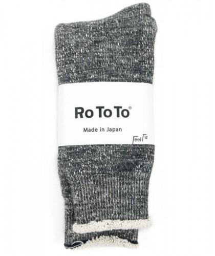 Chaussettes grises double face merino / coton bio ROTOTO