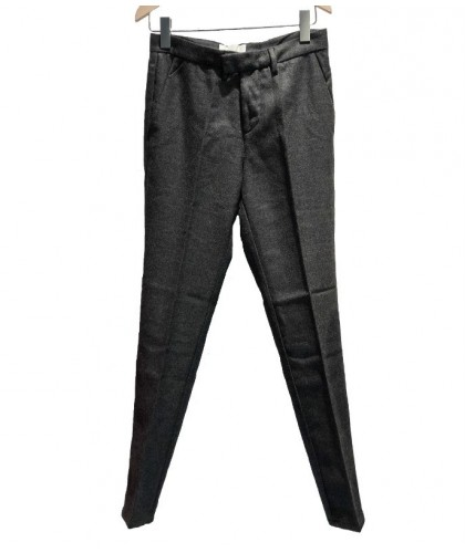Torino Forged Iron Grey Wool Trousers HAIKURE