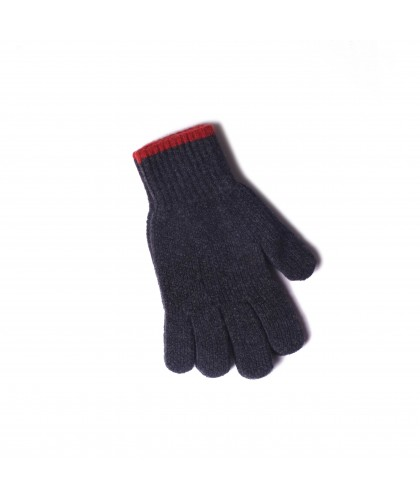 Gants en laine gris foncé 'Wind it up' HOWLIN'