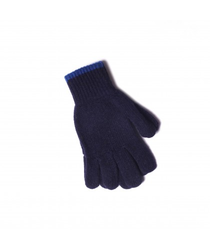 Gants en laine bleu marine 'Wind it up' HOWLIN'