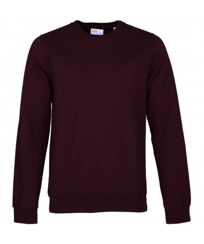 Sweatshirt Coton Bio Oxblood Red COLORFUL STANDARD