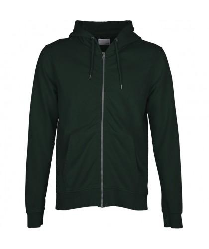 Hoodie zippé Coton Bio Hunter Green COLORFUL STANDARD