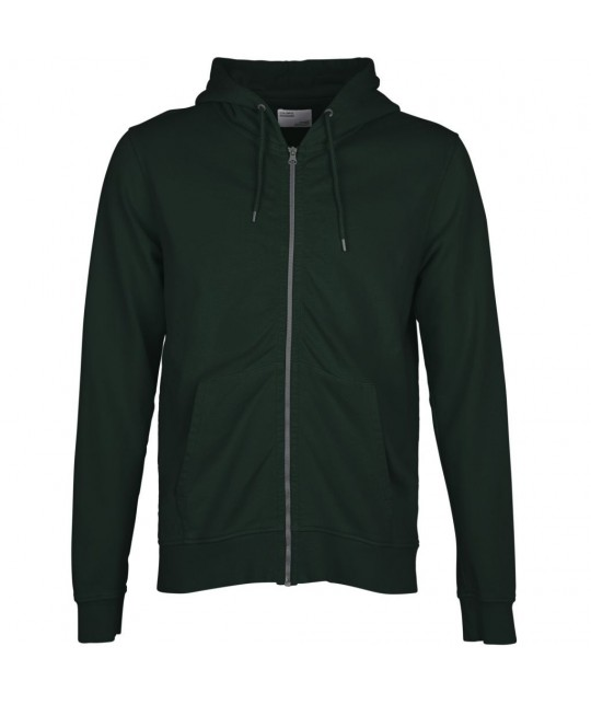 Hoodie zippé Coton Bio Hunter Green COLORFUL STANDARD