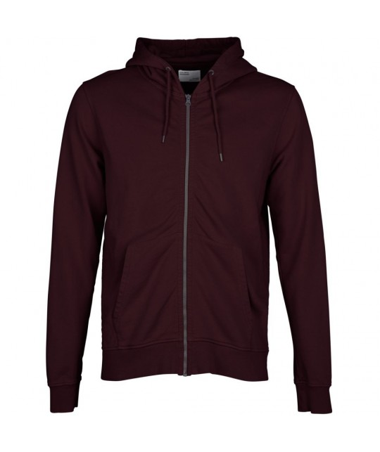 Hoodie zippé Coton Bio Oxblood Red COLORFUL STANDARD