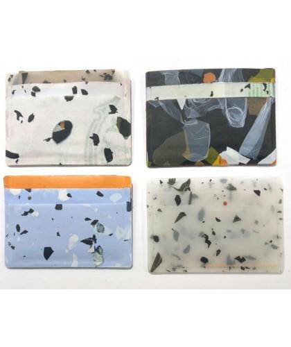 Porte-cartes en sacs plastiques upcyclés JOLENE JOLENE