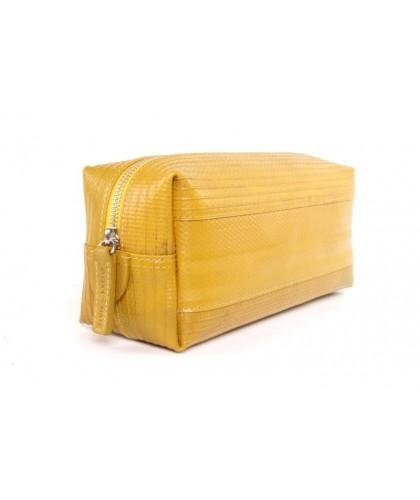 Trousse de toilette lance à incendie recyclée jaune PM - Elvis & Kresse