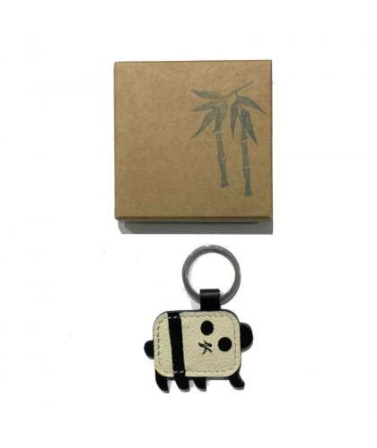 Panda Leather Keychain HERR PONG