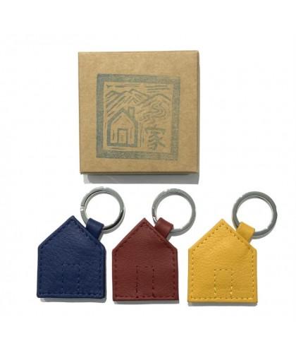 Haus Leather Keychain HERR...