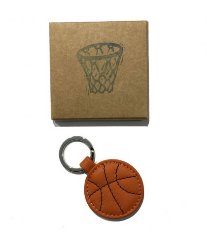 Basket Ball Leather Keychain HERR PONG