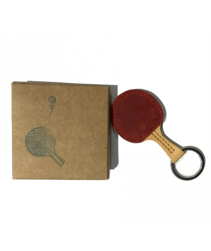 Ping Pong Leather Keychain HERR PONG