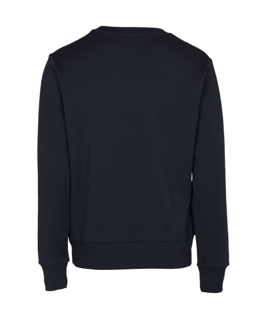 Sweatshirt en laine merino bleu marine KNOWLEDGE COTTON APPAREL