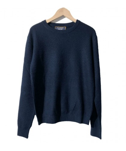 Light honeycomb navy sweater MONT SAINT MICHEL