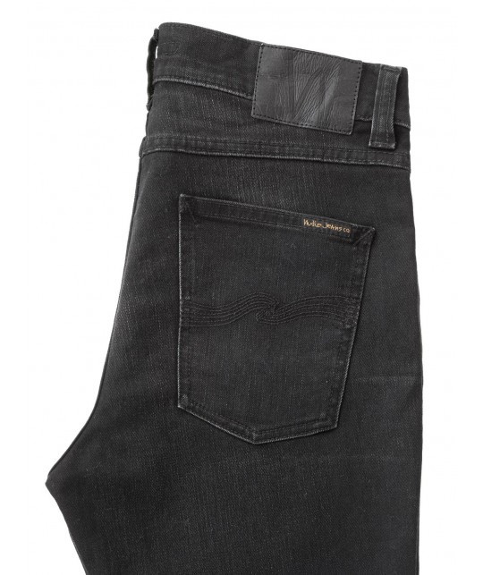 Jean coton bio Lean Dean Authentic Black NUDIE JEANS