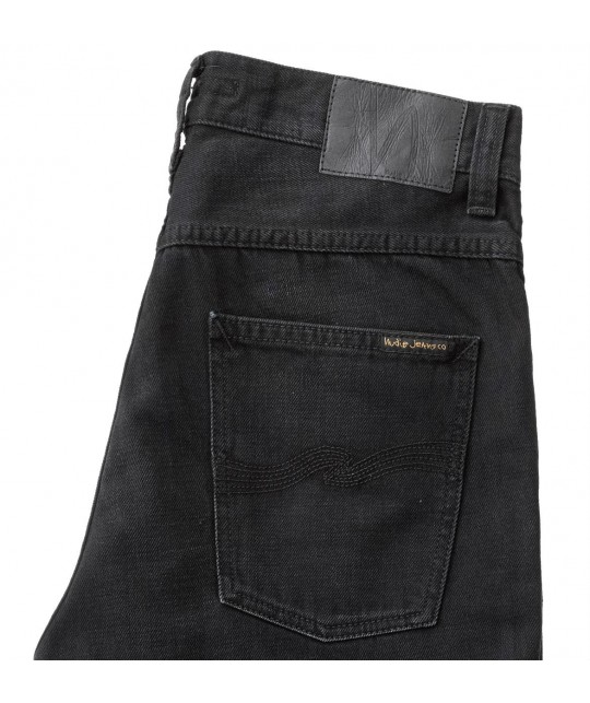 Jean coton bio Fearless Freddie Authentic Black NUDIE JEANS
