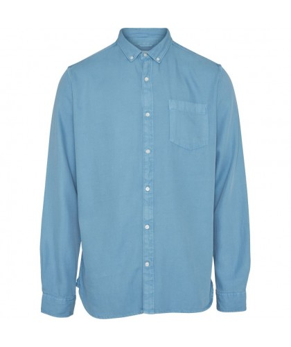 Soft Tencel Twill Light Blue Shirt KNOWLEDGE COTTON APPAREL