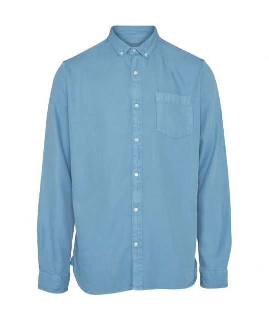 Chemise Twill souple bleu azur KNOWLEDGE COTTON APPAREL